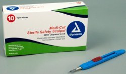 Medicut Disposable Scalpels, Sterile