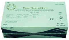 Vital Shield Left and Right Powder-Free Fitted Exam Gloves