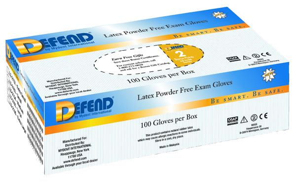 Defend Latex Glove Powder-Free