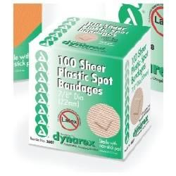 Sheer Plastic Spot Bandages